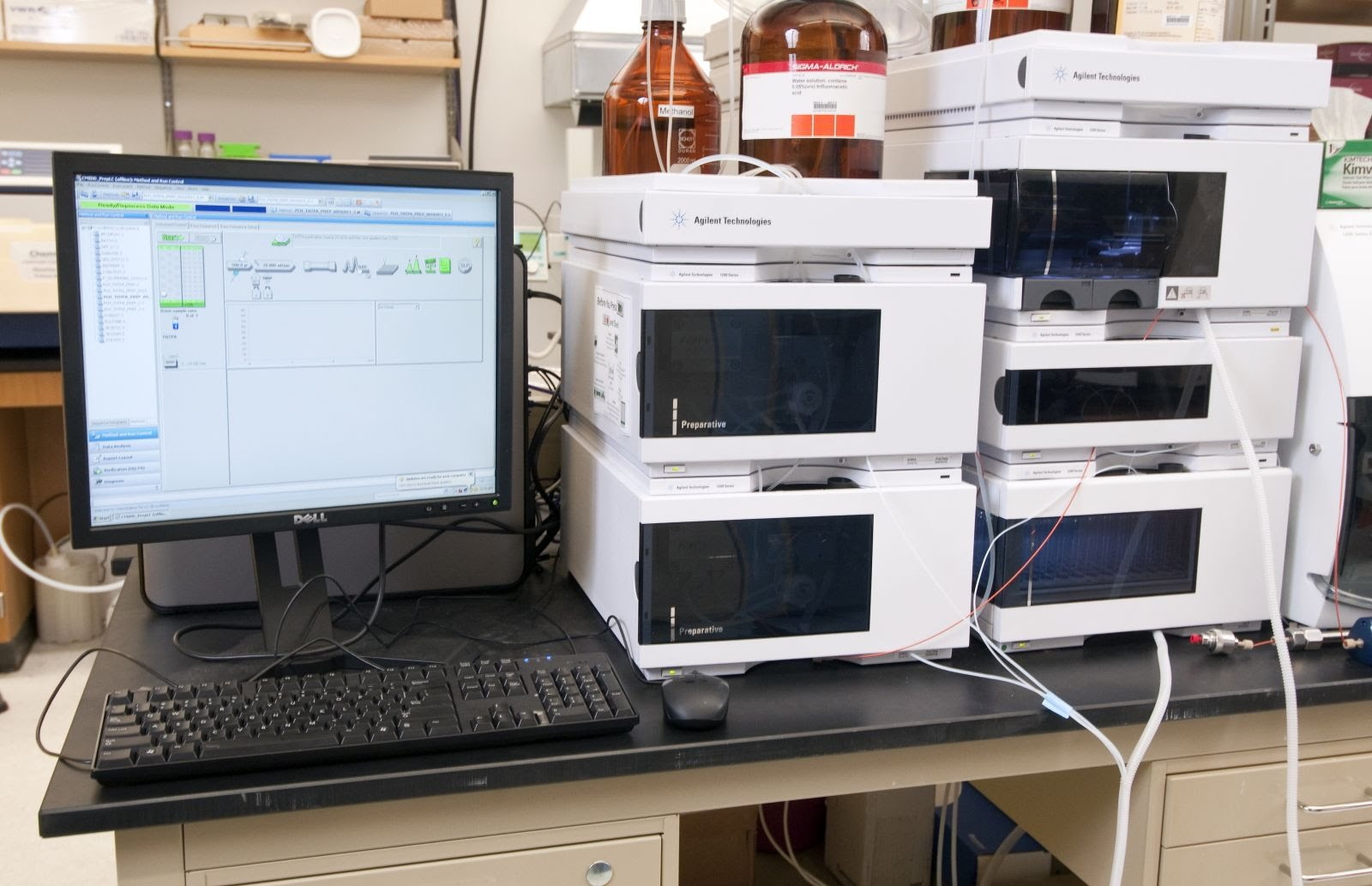 high performance liquid chromatography hplc High-performance liquid chromatography or high-pressure liquid chromatography (hplc) is a chromatographic method that is used to separate a mixture of compounds in analytical chemistry and biochemistry so as to identify, quantify or purify the individual components of the mixture.